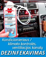 Kondicionieriaus / klimato kontrolės, ventiliacijos kanalų dezinfekavimas