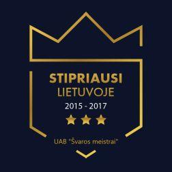 UAB Švaros meistrai stipriausi Lietuvoje 2015-2017